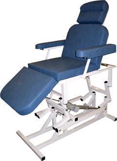 Лор-кресло с анатомическими подлокотниками (c одним электроприводом)